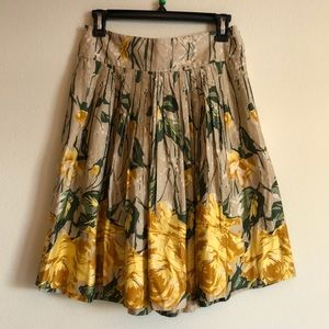 Loft | Floral Round Skirt